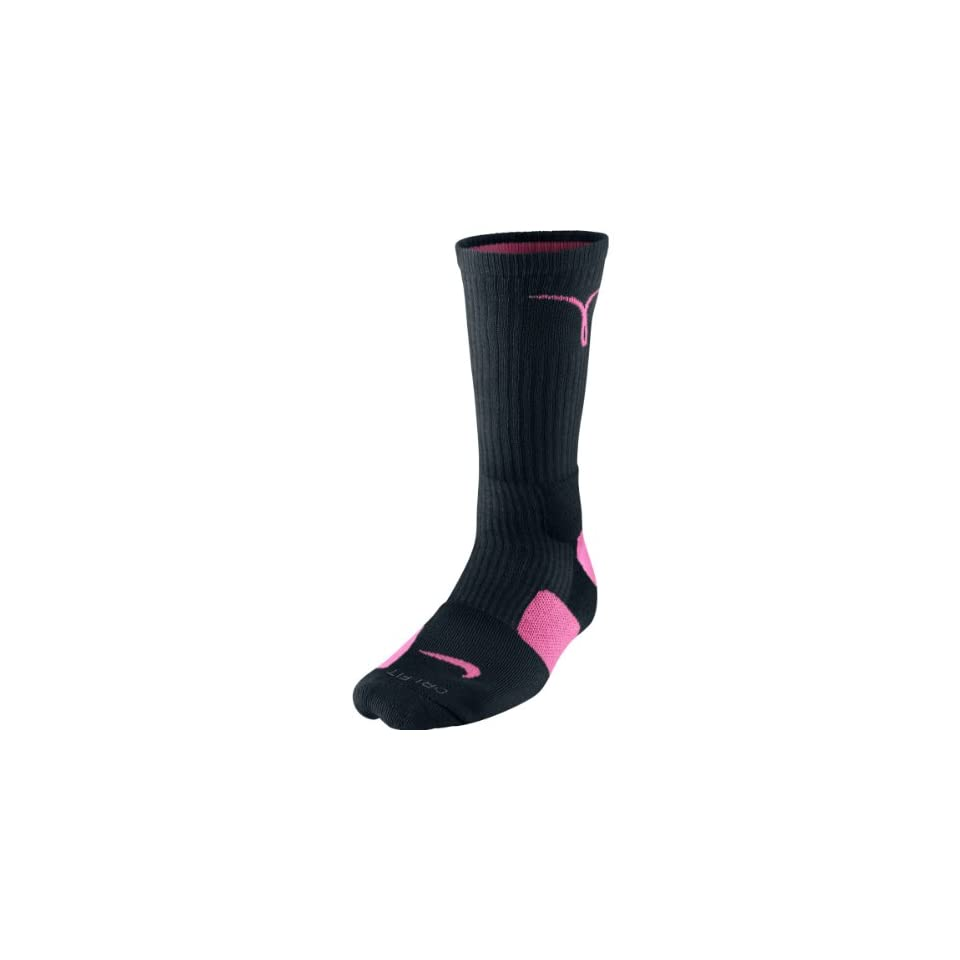 7700087764ba5 Nike Kay Yow Elite Crew Basketball Socks Black/Pink Size Socks Large ...