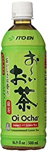 Ito En Tea Beverage, Unsweetened Oi Ocha Green, 16.9 Ounce Bottles (Pack of 12)