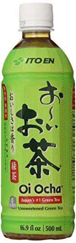 Ito En Tea Beverage, Unsweetened Oi Ocha Green, 16.9 Oz. Bottles (Count Of 12)