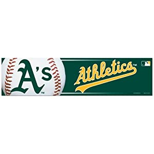 "Oakland Athletics Official MLB 12""x3"" Bumper Sticker by Wincraft"