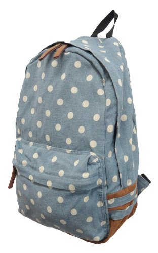 Carrot Ab 24021 Polkadot Canvas Backpack