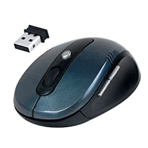 Daffodil WMS330 Wireless Optical Mouse 2.4GHz - Cordless 5 Button PC Mouse with Scrollwheel and Adjustable Sensitivity (MAX 1600dpi) - For Laptop / Netbook / Desktop Computers - Supported by: Microsoft Windows (7 / XP / Vista) and Apple MAC (OS X +) - Battery Powered (2xAAA Inc.)