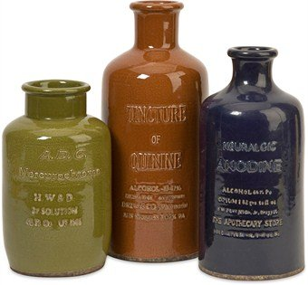 Imax Vintage Elixir Bottles, Set Of 3