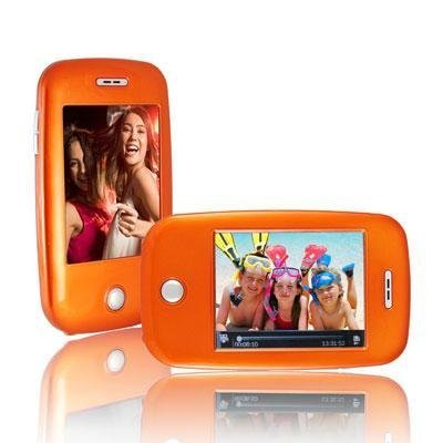 Ematic EM608VIDO 3-Inch Touch Screen 8 GB MP3 Video Player with Built-In 5 MP Digital Camera(Orange)