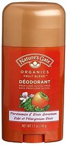 Nature's Gate Fruit Blend Deodorant, Persimmon & Rose Geranium, 1.7-Ounce Bottles (Pack of 4)