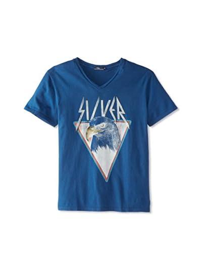 Silver Jeans Men's Short Sleeve V-Neck Eagle T-Shirt