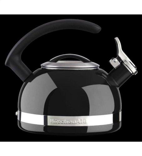Kitchenaid 2-quart Steel Band Tea Kettle Whistle /C Handle Kten20cbob Onyx Black
