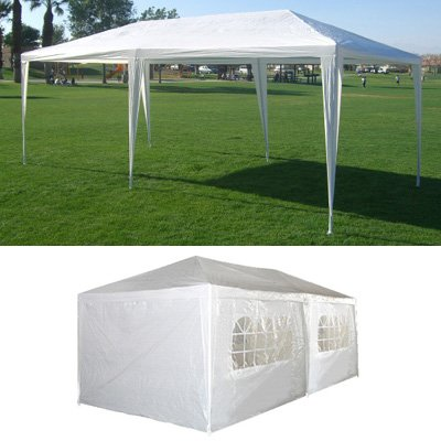10 x 20 White Party Tent Gazebo Canopy with Sidewalls
