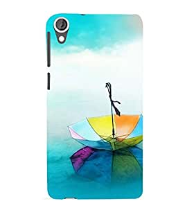 Vizagbeats rainbow umbrells Back Case Cover for HTC Desire 820