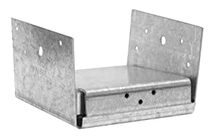 USP Structural Connectors PA66E-TZ G185-Triple Zinc Galvanized 2-Sided Post Anchor, 6 by 6