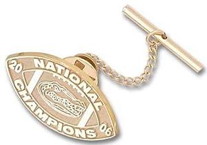 Florida Gators 2006 Bowl Championship Series 3 4 Logo Tie Tac - 14KT Gold Jewelry by Logo Art