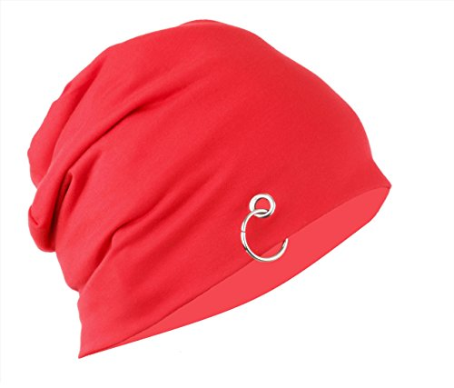 e5a9036e784c6 Gajraj Red Slouchy Beanie Cap (With Ring) 175 Rs  Mrp -175 ...