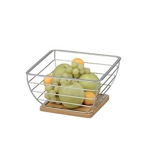 Zeller 25329 Corbeille à fruits Bambou/chromé 25 x 25 x 13,5 cm (Import Allemagne) 41zm%2B5vOYpL._SL500_AA300_