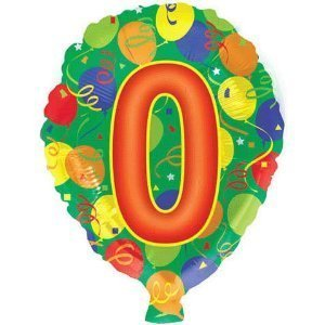 "#0 Balloons 18"" Mylar (Pack of 3)"