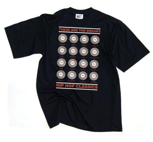 DMC Technics These Are The Breaks DJ  Mens T-Shirt Black D036S Small