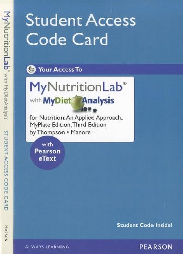 NEW MyNutritionLab with MyDietAnalysis with Pearson eText...