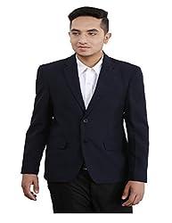 Loui-E-Ville Men's Blazer (BLZ019-38_Blue_38)