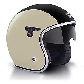 GPA casque jet CARBON SOLAR sable, noir Matt, taille:S