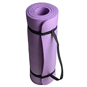 Buy (Multi Colors for Choosing) 3 5 Inch (15mm) Eco-friendly Thick Yoga Mats Exercise Mat with a Carry Bag by Generic