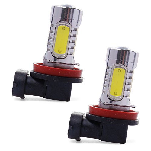 Xcsource® 2Pcs Xenon White H11 High Power Cob Led Projector Bulb For Car Driving Fog Light Ld310