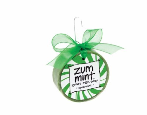 Indigo Wild Zum Bar Ornament with Bow Goat's Milk Soap Spearmint - 1