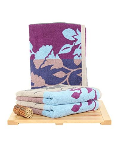Maisonette Fenja 3-Piece Hand Towel Set, Sky