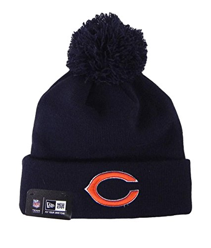 New Era Nlf Beanies One Size Poms Navy Blue Hat Chicago Bears Headwear Unisex (Chicago Bears Bucket Hat compare prices)