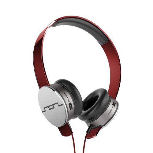 SOL REPUBLIC Tracks Headphones Remote and Microphone (Red)
