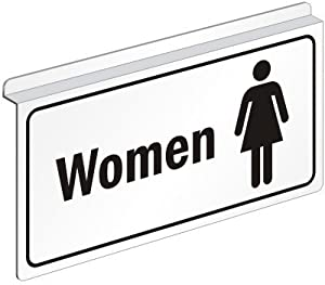 "Women (with Symbol), Drop Ceiling Aluminum ""Z"" Sign, 12"" x 6"""