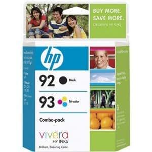 HP 92/93 (C9513FN, C9513FN#140) Combo Pack OEM Genuine Inkjet/Ink Cartridges (Black C9362WN+ Tri-Color C9361WN)*1 - Retail