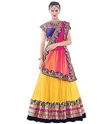 Apnisha Women Net Lehenga Choli ( Multicolour_Freesize )