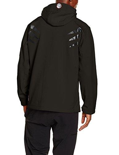 Geographical Norway Herren Telepherique Softshell Funktions Outdoor Jacke wasserabweisend , Schwarz (Black) , L -