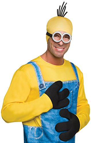 Rubie's Costume Co Men's Minion Basic Gloves