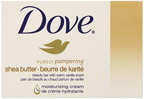 Dove Beauty Bar, Shea Butter, (1/4 moisturizing cream), 4 ounce (4 Count.)