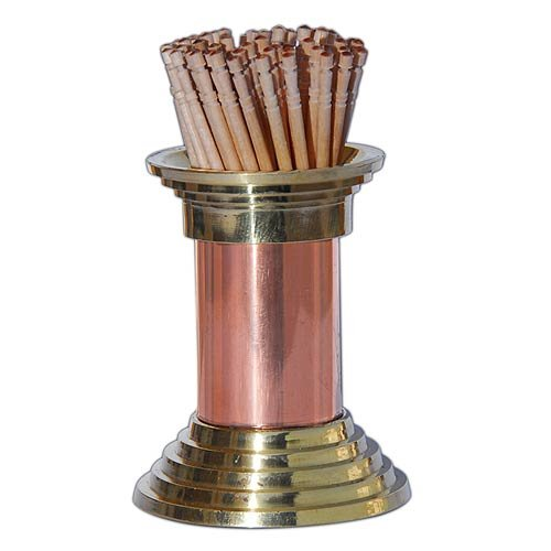 Toothpick Holder Copper and Brass height 2.25 inches