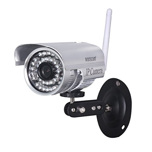 Wanscam Outdoor Cctv Ip Network Camera Wireless/Wired Ir Motion Detection Free Ddns Security Silver