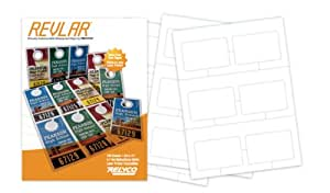 "REVLAR(TM) Waterproof Laser Printer Customizable ID Cards 8.5x11"" 7.7mil 6-up (100 sheets)"