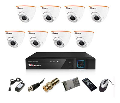 Tentronix-T-8ACH-8-DA10-8-Channel-AHD-Dvr,-8(1MP/36IR)-Dome-Cameras-(With-Accessories)