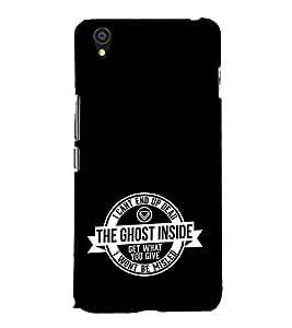 EPICCASE black ghost Mobile Back Case Cover For OnePlus X (Designer Case)