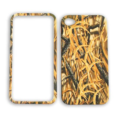 Apple iPhone 4 (AT&T/Verizon) Camo / Camouflage Hunter, w/ New Shedder Grass iPhone 4 Hard Case/Cover/Faceplate/Snap On/Housing/Protector