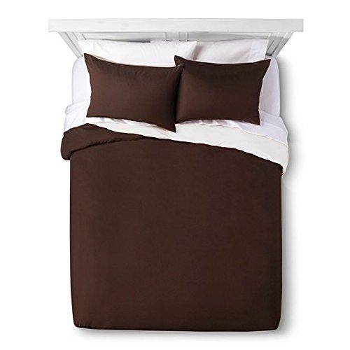Jennifer Adams Microfiber Duvet Cover Twin Brown Bedding