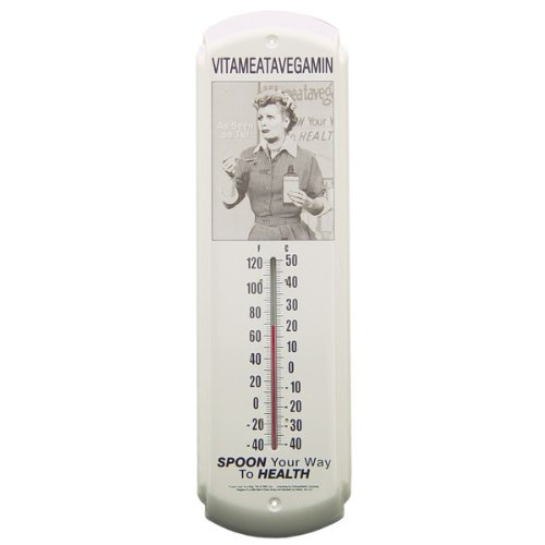 (5X17) I Love Lucy Vitameatamin Indoor/Outdoor Thermometer