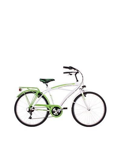 SCHIANO Bicicletta 26 Cruiser 307 Bianco/Verde