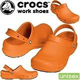 クロックス ビストロ バターリ crocs bistro batali le 10100 クロックス ワークシューズ crocs work shoes 厨房用シューズ unisex 通販 オレンジ M7-W9(25.0)