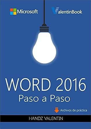 Amazon.com: Word 2016 Paso a Paso (PREVENTA) (Spanish Edition) eBook
