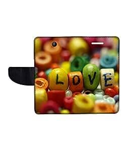 KolorEdge Printed Flip Cover For Microsoft Lumia 430 Multicolor - (43KeMlogo10075Lumia430)
