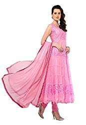 Shreenathji Enterprise Light Pink Braso Net Dress Materials (H115-04_Light pink_Free size)