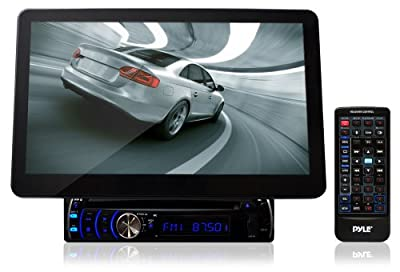 Pyle PLD10BT 10.1-Inch Motorized Touchscreen Bluetooth Receiver Multimedia System with Built-In DVD Player from Sound Around