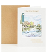 Get Well River Scene Greetings Card