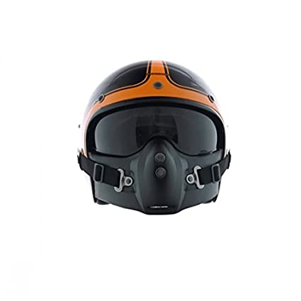 CA116S - Corsair Noir/Orange Brillant Taille S